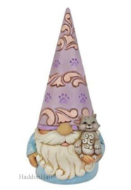 Gnome with Cat H14cm - Jim Shore 6010290