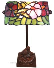 6008 Bureaulamp H33cm Tiffany Vogels