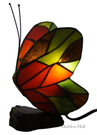 LT1204R Tiffany lamp Vlinder H17cm Red Butterfly