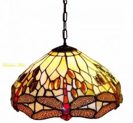 1100 Hanglamp Tiffany Ø30cm Beige Dragonfly