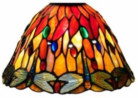 7808 3090 Kap Tiffany Ø25cm Red Glass Dragonfly