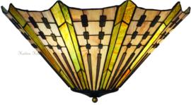 7858 80 Plafonniere Tiffany Ø50cm Plissé 2xE27