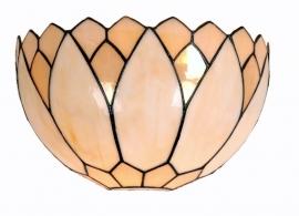 9136 Wandlamp Tiffany B30cm Schelpmodel Lelie