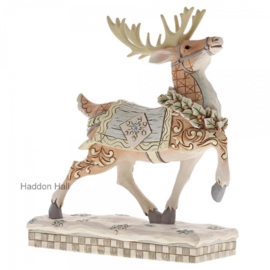 """Woodland Reindeer Winter Scene"" H20,5cm Jim Shore 6001412"