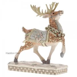 """Woodland Reindeer Winter Scene"" H20,5cm Jim Shore 6001412"