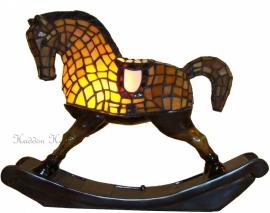"Tiffany lamp ""Hobbelpaard"" H30cm 5646"