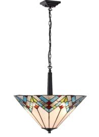 5393 68770 Hanglamp Uplight Tiffany Ø51cm Cathedral