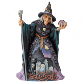 Witch with Crystal Ball H24cm Jim Shore 6004326