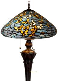 7860 Vloerlamp H170cm met Tiffany kap Ø50cm Fly Away  Bolling in de voet