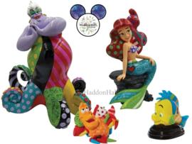 Ariel, Ursula, Flounder & Sebastian - Set van 4 beelden Disney by Britto