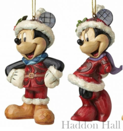 "Mickey  Minnie ""Sugar Coated"" Set van  Jim Shore Hanging Ornament"