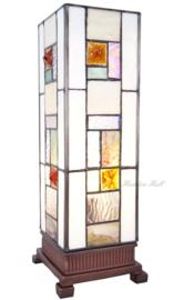 5857 Tafellamp Tiffany H35cm Miniwindlicht Poiret