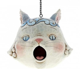 Grey Cat Birdhouse B20,5cm Jim Shore Vogelhuis 6001602