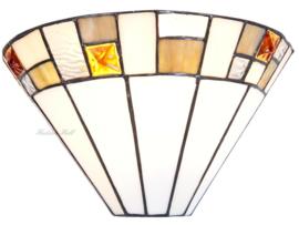 5859 Wandlamp Tiffany B30cm Schelpmodel Poiret