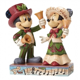 MICKEY & MINNIE Victorian Ringing in the Holidays  H15cm Jim Shore 4051976