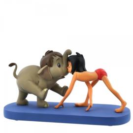 "MOWGLI & HATHI Jr. ""Jungle Patrol "" H 5cm Showcase Disney A28789"