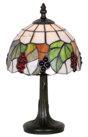 425 Tafellamp Tiffany H32cm Ø18cm Red Berrie