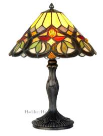 COT08 Tafellamp Tiffany H37cm Ø25cm Sydän