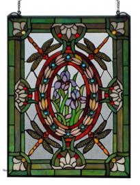 6091 Voorzetraam Tiffany 46x61cm Dragonflies