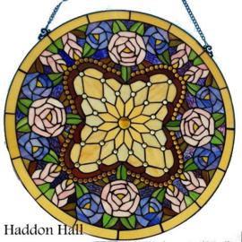 6026 Voorzetraam Tiffany Ø60cm Circle of Roses
