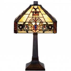 9992 Tafellamp Tiffany H37cm 21x21cm Muncaster