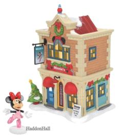 Minnie's Dance Studio H20cm & Minnie Figurine - Set van 2 - Disney Village by D56