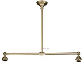90 Ophanging B90cm voor hanglamp met 2 kappen Mat Nikkel