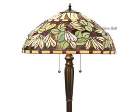 5990 Vloerlamp H157cm met Tiffany kap Ø51cm Caora