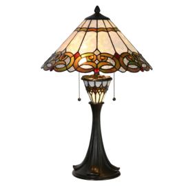 5392 Tafellamp Tiffany H60cm Verlichting in de voet Misai