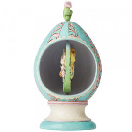 Revolving Egg with Bunnies and Chicks Scene Figurine H22cm Jim Shore 6003625