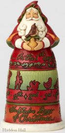 """Santa 12 Days of Christmas"" H26cm Jim Shore 6001462"