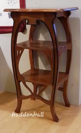 """Plantentafel Jugendstil H85cm """"Louis"""" Massief Teakhout  Art Nouveau."""
