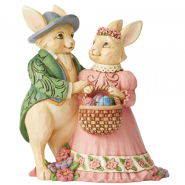 Bunny Couple with Basket H15cm Jim Shore 6006232