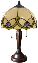 5918 Tafellamp Tiffany H50cm Ø30cm Luna