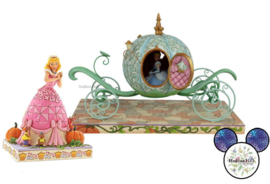 Cinderella Carriage & Cinderella & Mice - Set van 2 Jim Shore beelden