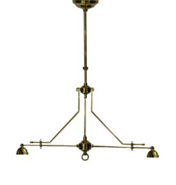 1049 Ophanging Messingkleur B95cm voor 2 kappen