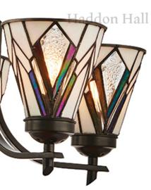 74347 Hanglamp Ø50cm met 5 Tiffany kappen Astoria