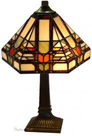 9021 T8830 Tafellamp Tiffany H37cm Ø25cm Midway