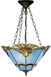 161072 SU3 Hanglamp Tiffany Ø40cm Modry