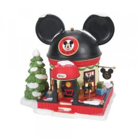 Mickey's Ear Hat Shop H19cm - Disney Village by Possible Dreams 6007177