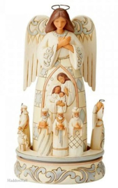 White Woodland Rotating Nativity Angel  H24,5cm Jim Shore 6005689