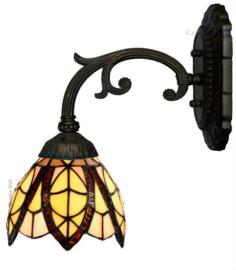 8119 5820 Wandlamp met Tiffany kap Ø15cm Flow Souplesse