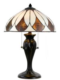 74317 Tafellamp Tiffany H58cm Ø40cm Aragon
