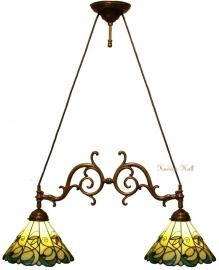 """T095S Hanglamp met 2 Tiffany kappen Ø30cm """"Jamelia"""""""