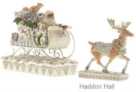 """Woodland Santa en  Reindeer"" Set van 2 Jim Shore beelden 6001410 6001411"
