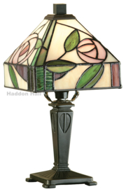 TG106Min Tafellamp H30cm met Mackintosh kap 15x15cm Willow