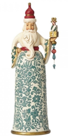"""Gracious is Giving"" H 27,5cm  Golden Garland Santa Jim Shore 4058759 Kerstman"
