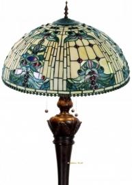 5424 9459 Vloerlamp Tiffany Ø50cm Blue-Oyster Bolling in de voet