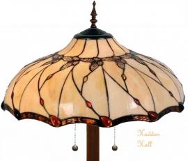5345 9454 Vloerlamp Tiffany Ø50cm Black Butterfly Ronde voet
