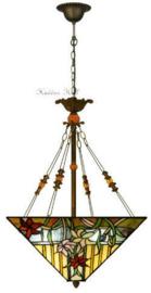 NBS12 5767 Hanglamp Tiffany Tiffany 40x40cm 2xE27 Paradise